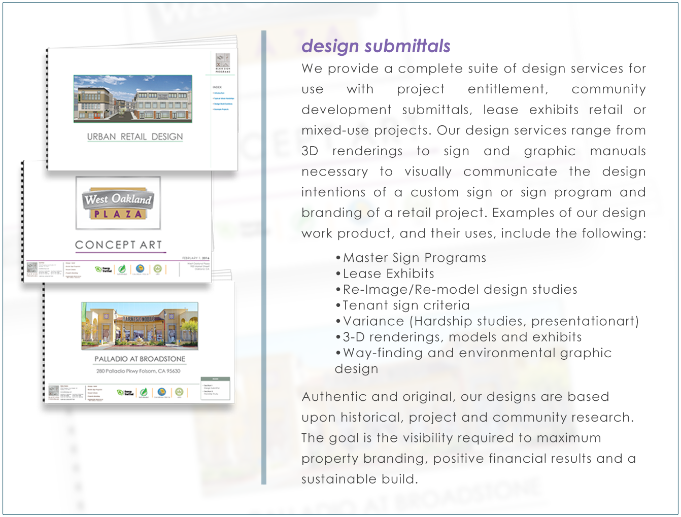 DESIGN2-design submittals